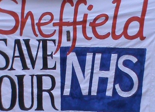 Sheffield Save Our NHS banner