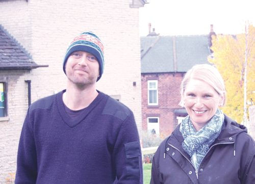 Alison with Common Ground activist Jake Hurst after the tidy-up