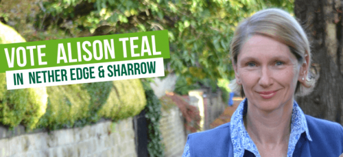 Vote Alison Teal in Nether Edge & Sharrow
