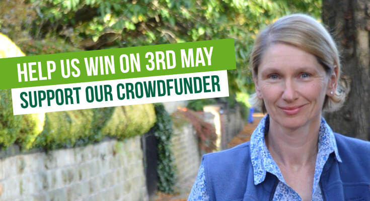 Help us win on 3rd May, support our crowdfunder