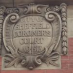 The shield on the Old Coroner's Court