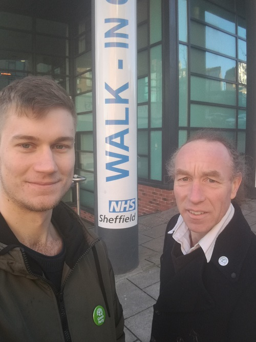 Cllr Martin Phipps and Cllr Douglas Johnson at the Walk-in Centre