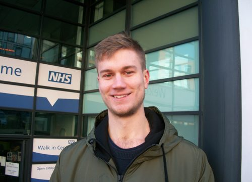 Cllr Martin Phipps at the Walk-in Centre