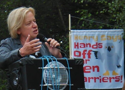 Natalie Bennett speaking at Hen Harrier Day