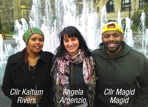 Cllr Kaltum Rivers, Angela Argenzio, Cllr Magid Magid