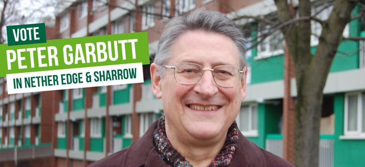 Vote Vote Peter Garbutt in Nether Edge & Sharrow in