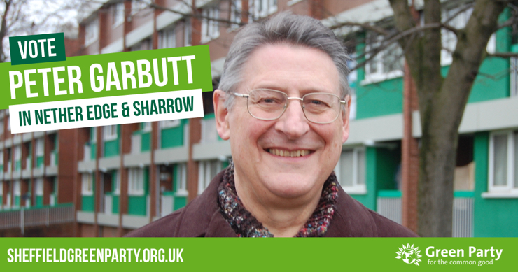 Vote Peter Garbutt in Nether Edge & Sharrow