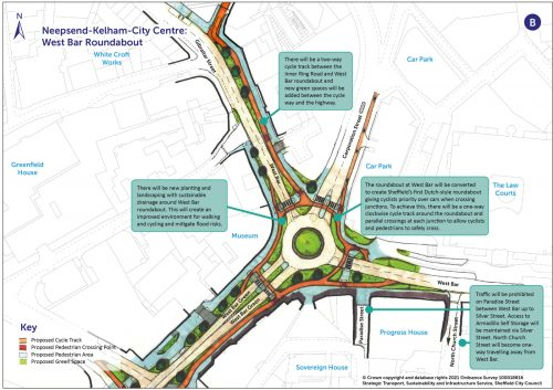 Dutch Roundabout proposal for West Bar