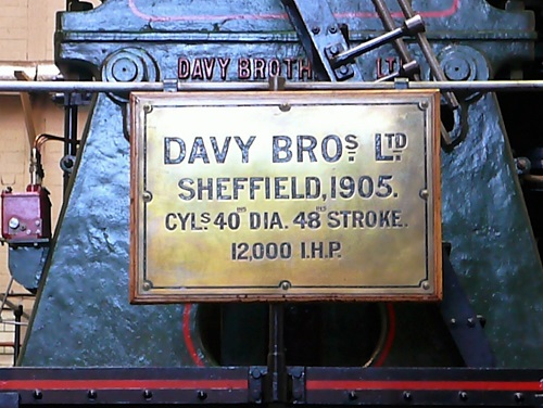 Davy's River Don engine at Kelham Island Museum