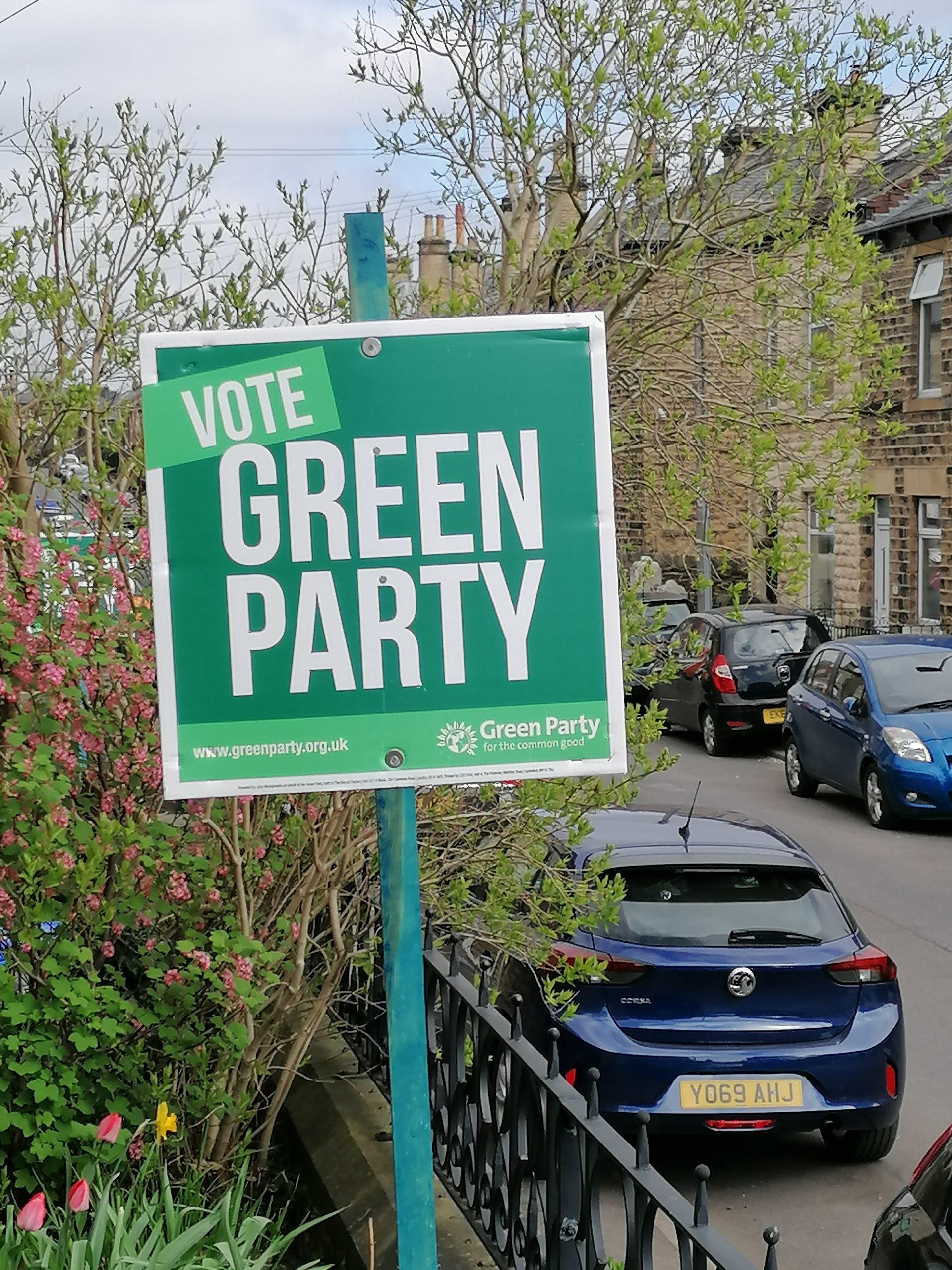 Green Party Garden Stake
