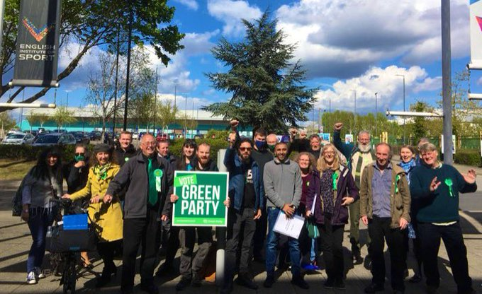Green Praty members celebrate election successes
